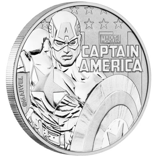 Captain America, 1oz Silver Coin,999,2018