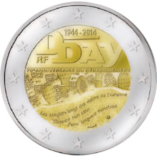 2 Ευρώ, Γαλλία, Επέτειος της απόβασης στη Νορμανδία, 2014 2 ευρώ  αναμνηστικά 2