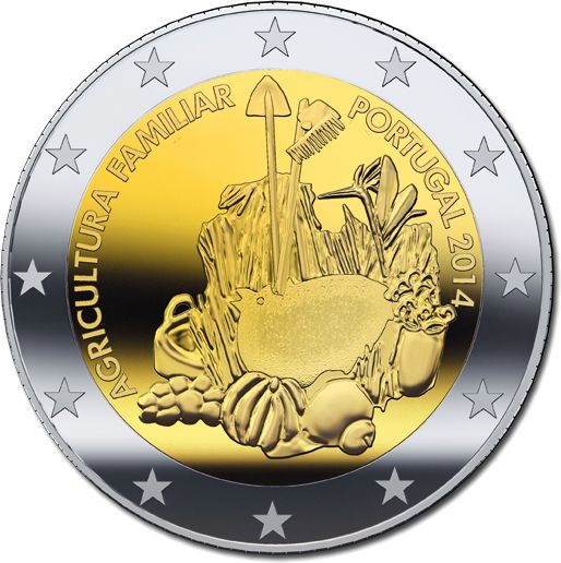 2 Ευρώ, Πορτογαλία, Αγροτική Οικογένεια, 2014 2 ευρώ  αναμνηστικά 2