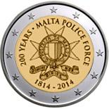 2 Ευρώ, Μάλτα, Αστυνομία της Μάλτας, 2014 2 ευρώ  αναμνηστικά 2