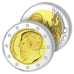 2 Ευρώ, Ελλάδα, Ακαδημία Πλάτωνος, 2013 2 ευρώ