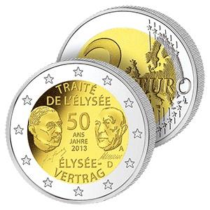 2 Ευρώ, Γερμανία, Η Συνθήκη των Ηλυσίων, 2013 2 ευρώ  αναμνηστικά 2