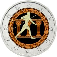 2 Ευρώ, Έγχρωμο, Ελλάδα, 2500 χρόνια από τη Μάχη του Μαραθώνα, 2010 2 ευρώ