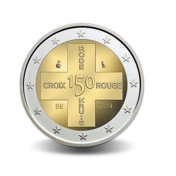 2 Ευρώ,Coin Card 150 χρόνια του Ερυθρού Σταυρού, Βέλγιο 2014 2 ευρώ