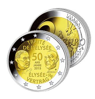 2 Ευρώ, Γαλλία, Συνθήκη των Ηλυσίων, 2013 2 ευρώ  αναμνηστικά 2