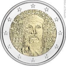 2 Ευρώ, Φινλανδία, Φρανς Έμιλ Σίλανπαα, 2013 2 ευρώ  αναμνηστικά 2