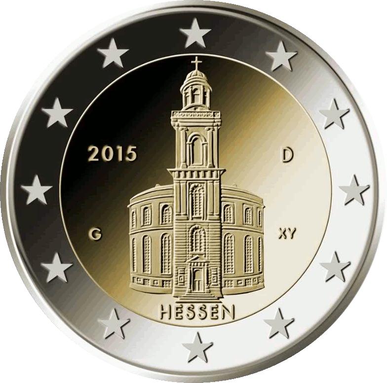 2 Ευρώ, Γερμανία, Αγιος Παύλος, Έσση, 2015 2 ευρώ