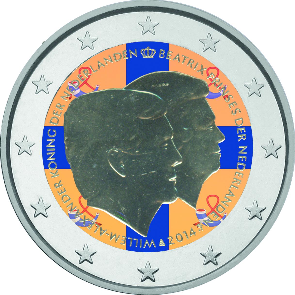 2 Ευρώ, Έγχρωμο, Ολλανδία, Διπλό Πορτραίτο, 2014 2 ευρώ