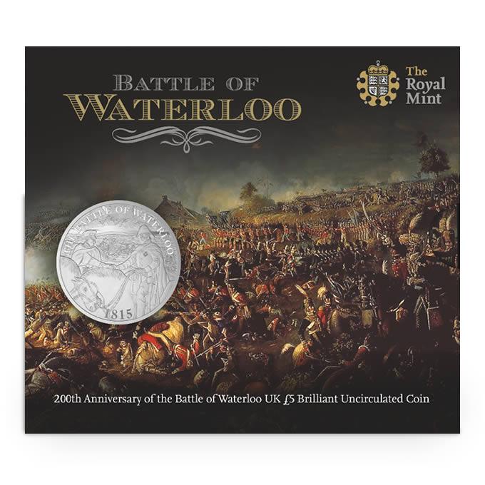 200 Χρόνια απο τη Μάχη του Βατερλώ, 2015 UK £5 BU, Ηνωμένο Βασίλειο διεθνείς