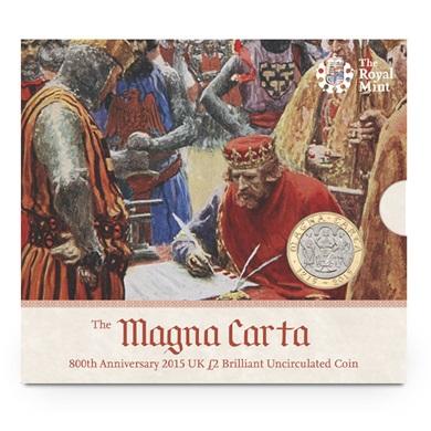 800 Χρονια της Magna Carta 2015 £2 BU, Ηνωμένο Βασίλειο διεθνείς
