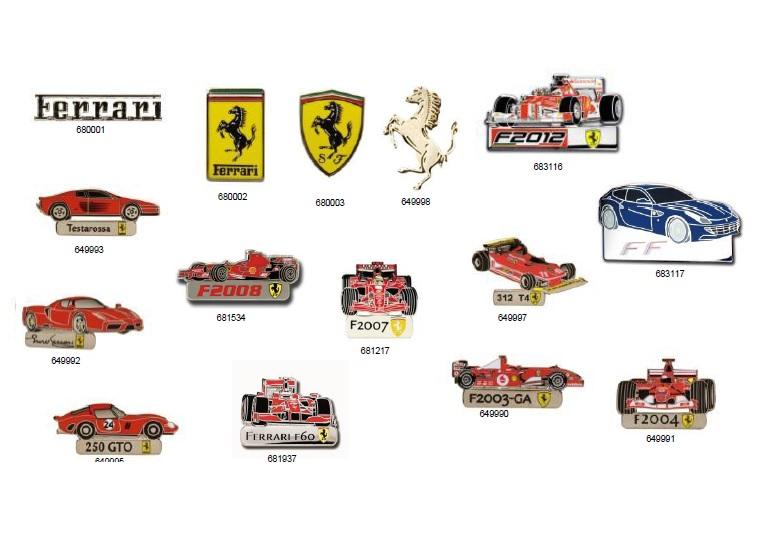Ferrari Pins Collection (Καρφίτσες Πέτου) διεθνείς  ferrari