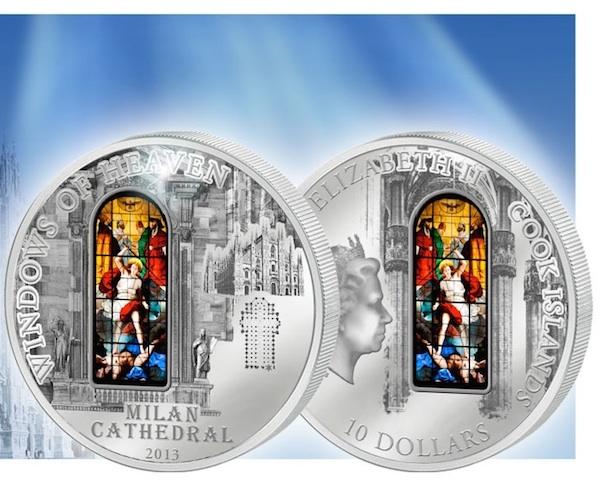 Νόμισμα με Βιτρώ-Καθεδρικός Ναός του Μιλάνο, Ασήμι 925 θεματικά περίεργα και συλλεκτικά νομίσματα