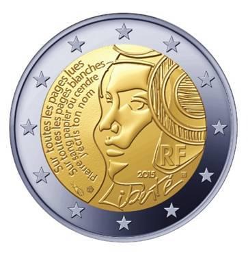 2 Ευρώ, Αναμνηστικό, Γαλλία, Fête de la Fédération. 2015 2 ευρώ