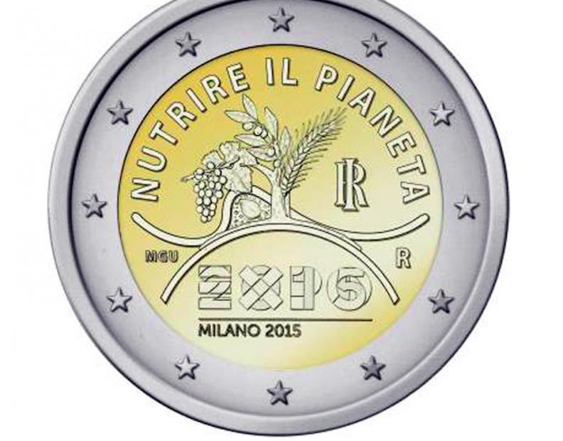 2 Ευρώ, Ιταλία, Διεθνής Έκθεση του Μιλάνο-EXPO 2015, 2015 2 ευρώ