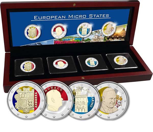 Συλλογή, Οι 4 μικρές χώρες της Ευρώπης 2 ευρώ  έγχρωμα 2