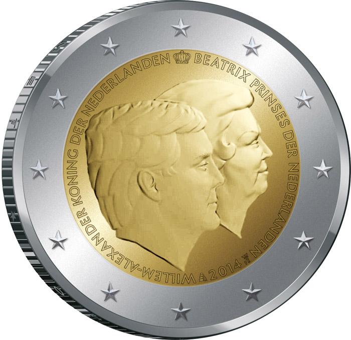 2 Ευρώ, Ολλανδία, Διπλό Πορτραίτο, 2014 2 ευρώ  αναμνηστικά 2