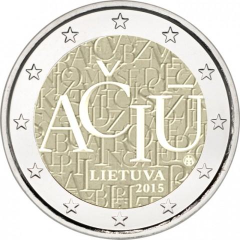 2 Ευρώ, Λιθουανική Γλώσσα, Λιθουανία 2015 2 ευρώ  αναμνηστικά 2