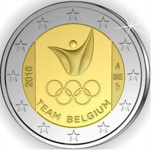 2 Ευρώ, COIN CARD Θερινοί Ολυμπιακοί Αγώνες- Ρίο ντε Τζανέιρο, Βέλγιο 2016 2 ευρώ