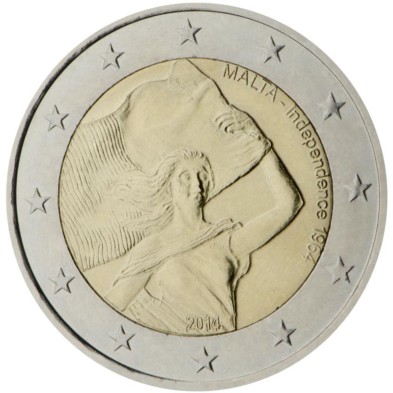 2 Ευρώ, Ανεξαρτησία της Μάλτας - 1964, Μάλτα 2014 2 ευρώ  αναμνηστικά 2