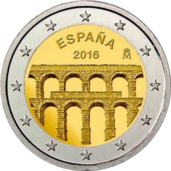 2 Ευρώ,Παλιά πόλη της Σεγόβια,Ισπανία, 2016 2 ευρώ