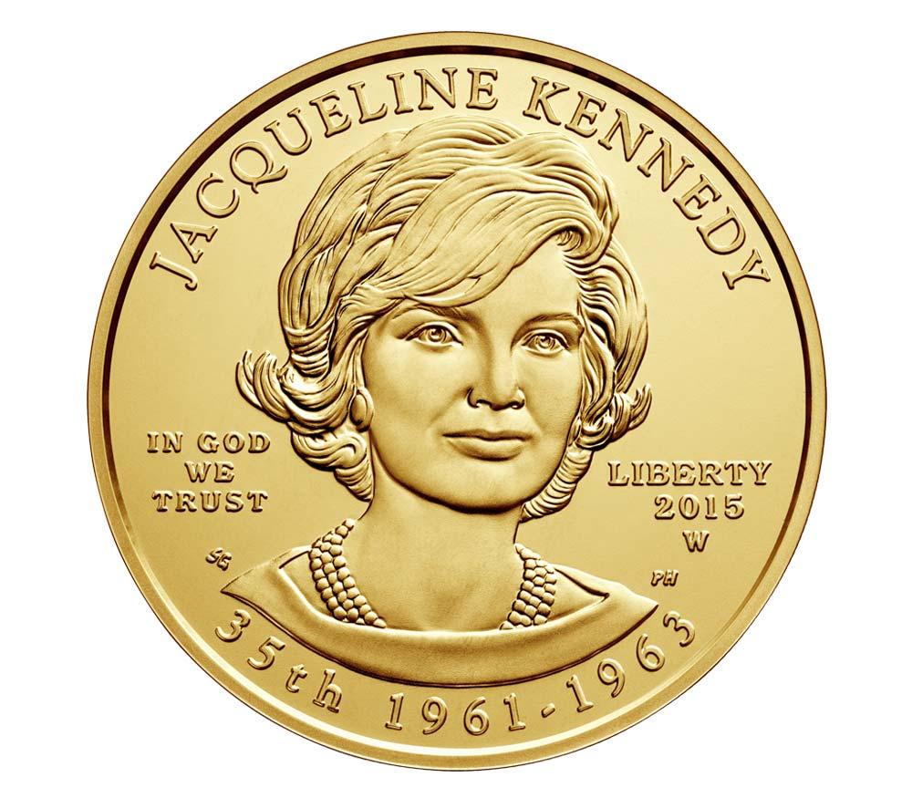 10$, Χρυσός 24K, Τζάκι Κένεντι, ΗΠΑ 2015 θεματικά αμερική νομίσματα