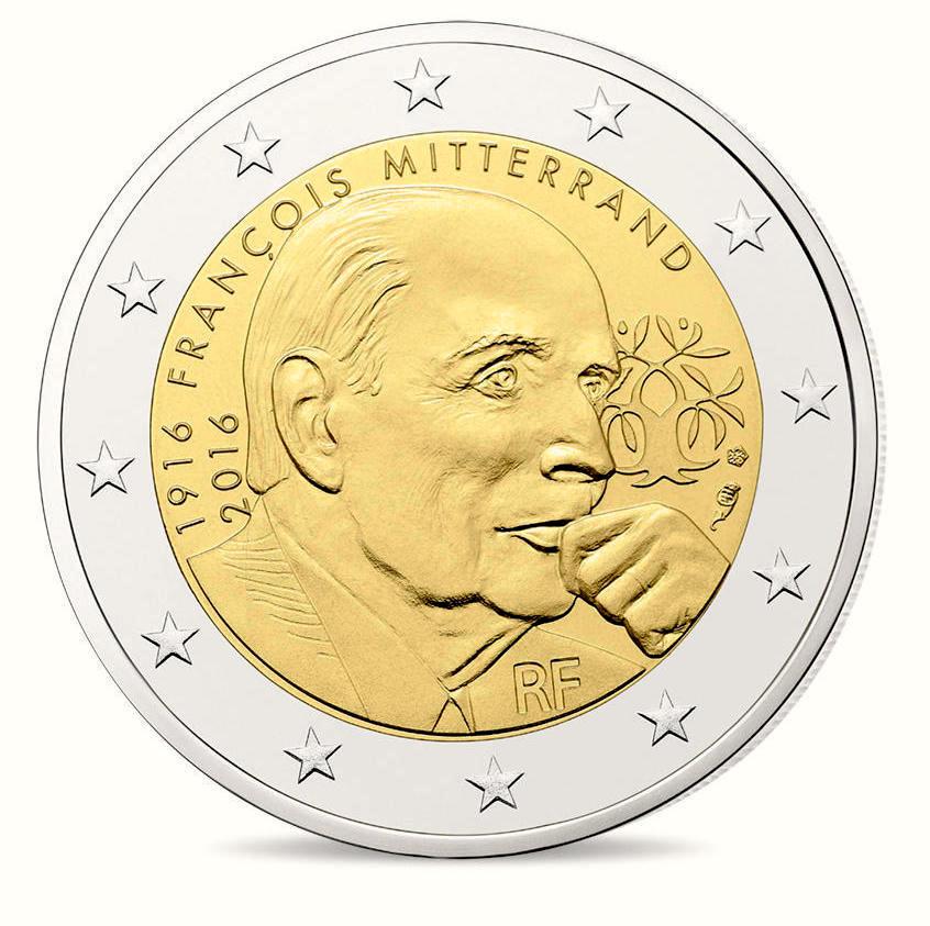 2 Ευρώ, Φρανσουά Μιτεράν, Γαλλία, 2016 2 ευρώ