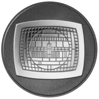 6€, 50 Χρόνια Ελληνικής Τηλεόρασης, Ασήμι 925 Proof, Ελλάδα 2016 ελληνικά νομίσματα