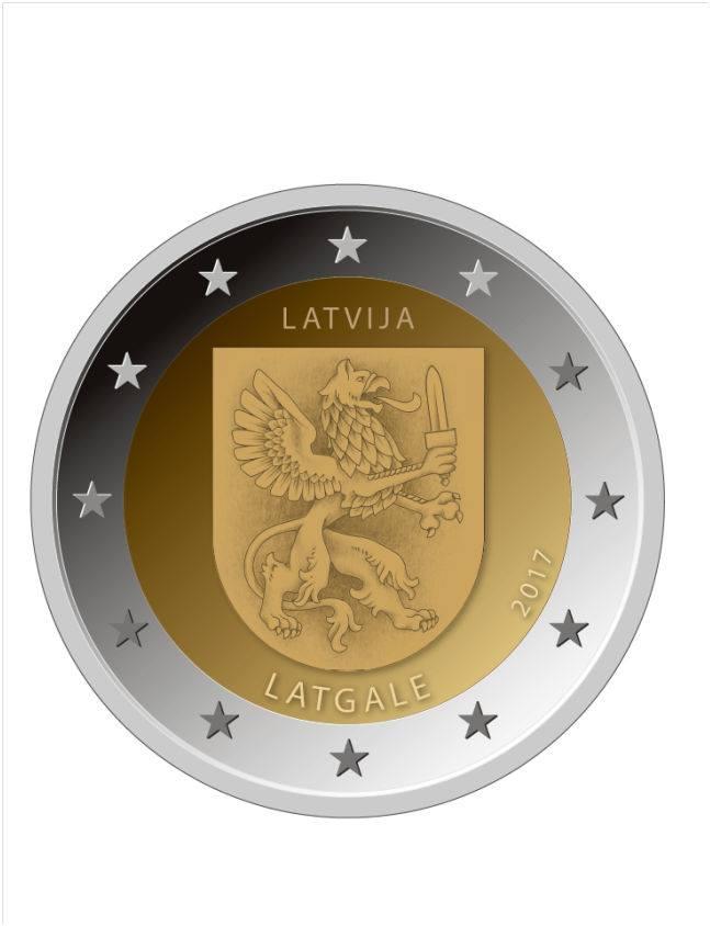 2 Ευρώ, Λεττονία,Latgale, 2017 2 ευρώ  αναμνηστικά 2
