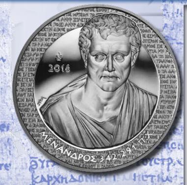 10€, Ασήμι 925, Proof, Μένανδρος, Ελλάδα 2016 ελληνικά νομίσματα