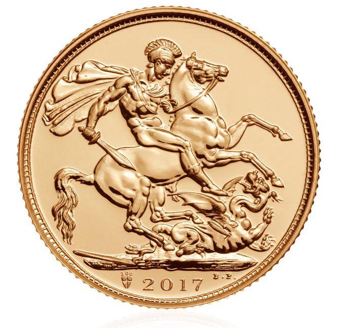 Sovereign Χρυσός, 22Κ, Ηνωμένο Βασίλειο 2017 ασήμι χρυσός χρυσά au νομίσματα