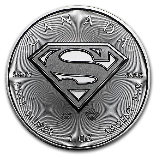 $ 5, 2016 Καναδάς, 1 oz, ασημι, Superman, BU θεματικά σινεμα  ηρωες  κομικς