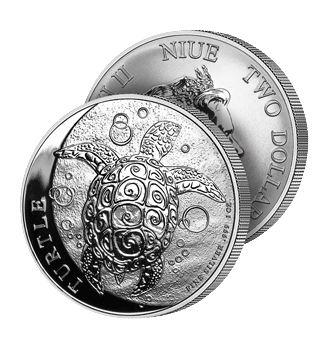 2 $, Ασήμι 999, Η Χελώνα, 2018 ασήμι χρυσός συλλεκτικοσ κοσμοσ  χρυσός   ασήμι   1 2017