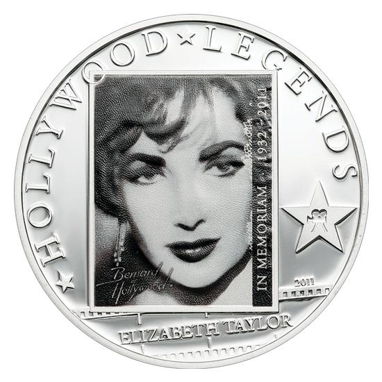Νόμισμα Θρυλική Liz Taylor, Νήσοι Κουκ, 1$, 2011 συλλογές νομισμάτων  περίεργα και συλλεκτικά νομίσματα