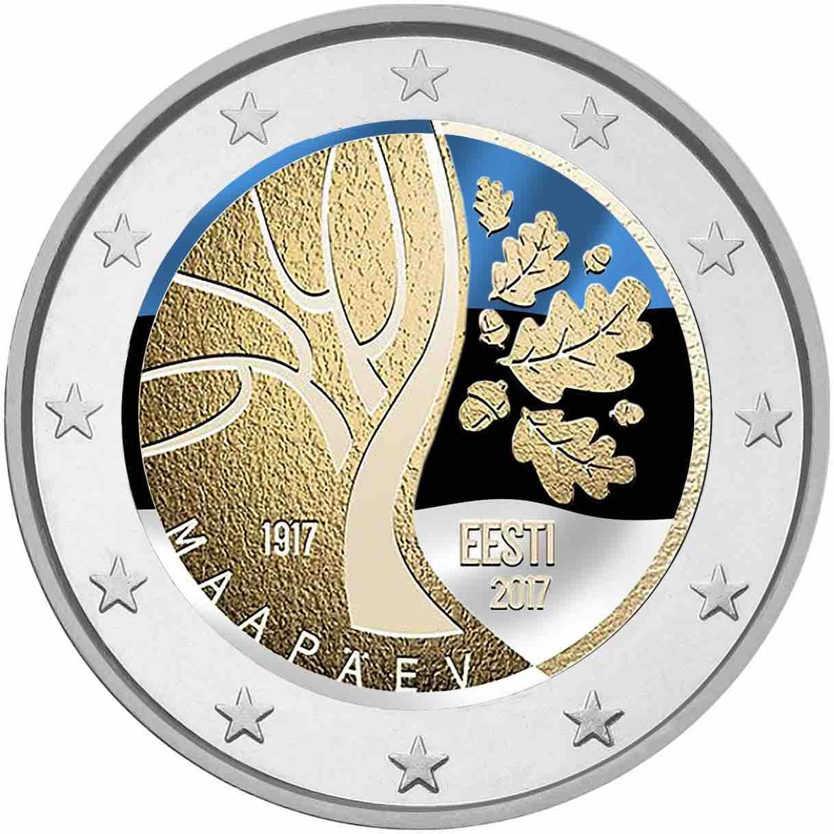 2 Ευρώ, Έγχρωμο, Ο δρόμος για την ανεξαρτησία, Εσθονία, 2017 2 ευρώ