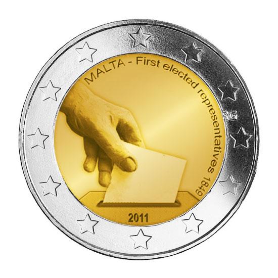 Μάλτα 2011 - Σπάνιο νόμισμα 2 ευρώ, 2011 2 ευρώ  αναμνηστικά 2