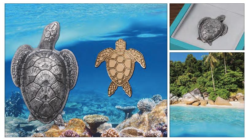 Palau, Θαλάσσια Χελώνα, Χρυσος, 2017 θεματικά περίεργα και συλλεκτικά νομίσματα