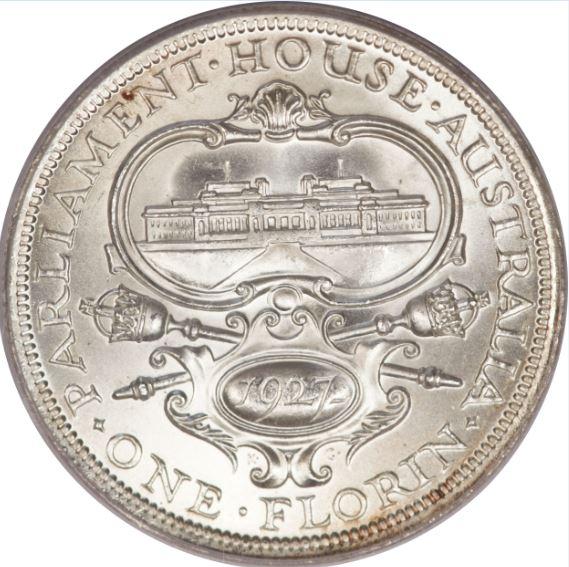 1 Φιορίνι, Κοινοβούλιο, Αυστραλία 1927 θεματικά περίεργα και συλλεκτικά νομίσματα