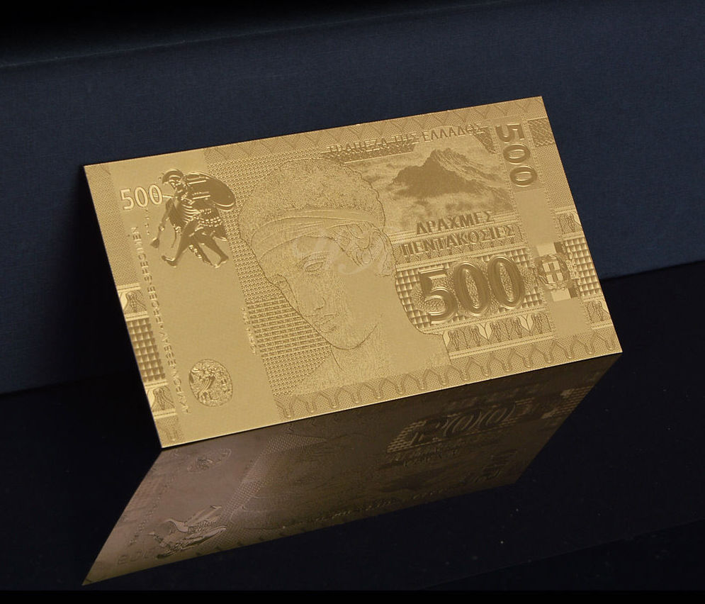 Ελλάδα, 500 δραχμές, χαρτονομισμα, Φύλλο Χρυσού 24Κ συλλογές νομισμάτων  χαρτονομίσματα