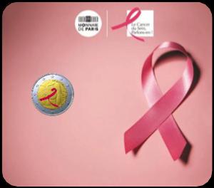 Γαλλία 2 € - Μάχη κατά του Καρκίνου του Μαστού, Έγχρωμο, σε Blister, 2017 2 ευρώ