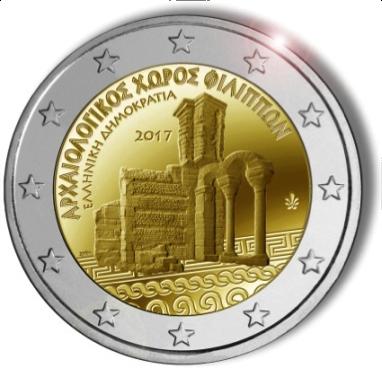 2 Ευρώ, Αρχαιολογικός χώρος των Φιλίππων, Ελλάδα 2017 2 ευρώ  αναμνηστικά 2