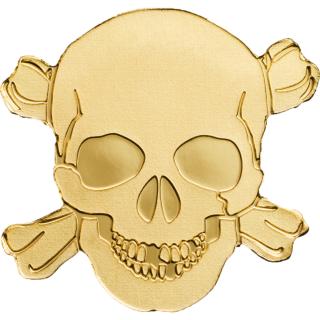 Μια Χρυσή Νεκροκεφαλή, Νόμισμα! Παλαου, 1 Δολάριο, Χρυσός 24Κ, 0.5 γρ, 2017 ασήμι χρυσός