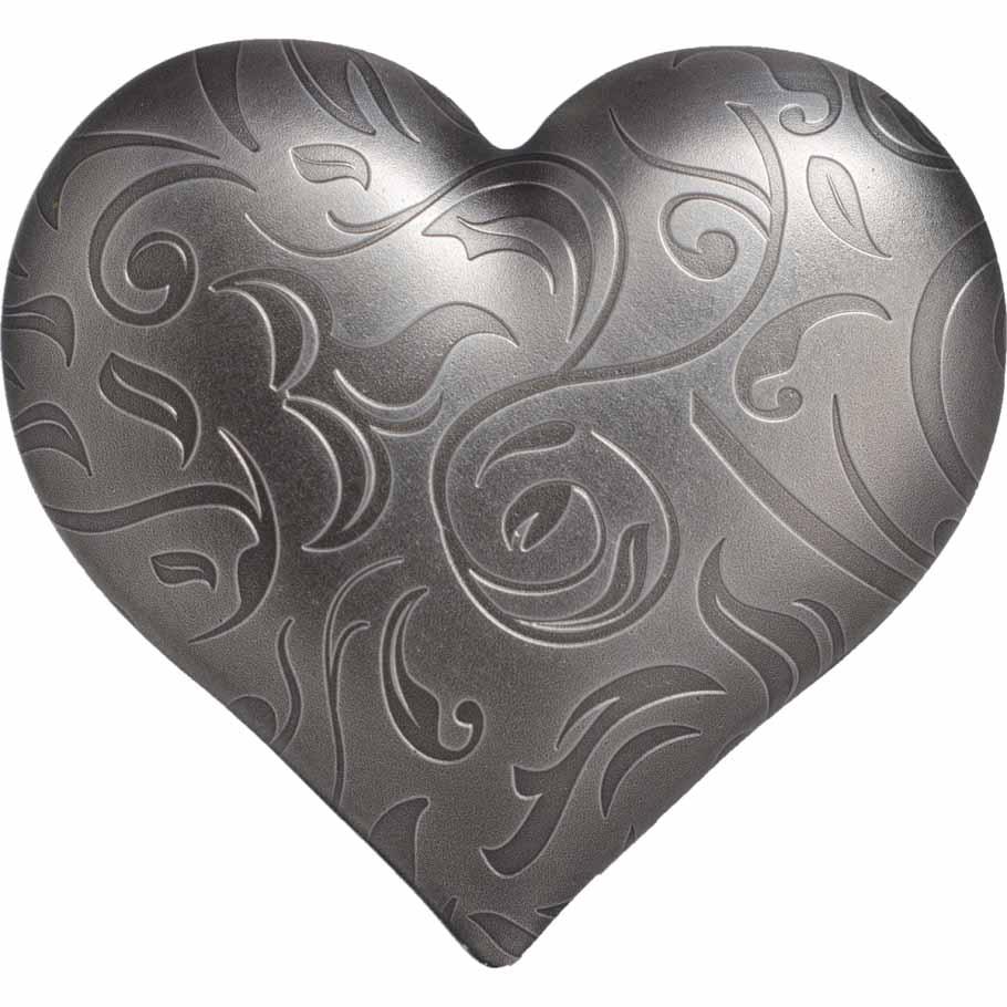 Ασημένια Καρδιά, 5$, 1 oz, 33 χιλ., Αντίκ φινίρισμα, Ασήμι .999,Παλάου 2018 2017 cti