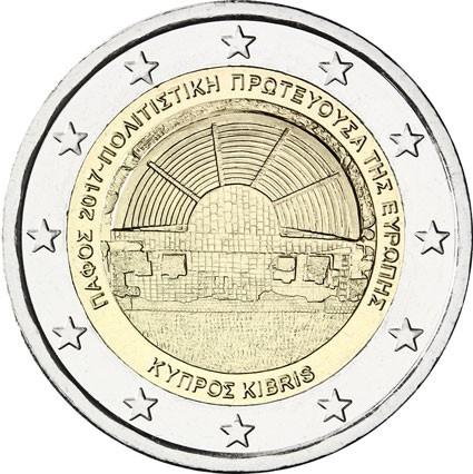 2 Ευρώ, Πάφος Πολιτιστική Πρωτεύουσα της Ευρώπης 2017, Κύπρος, 2017 2 ευρώ  αναμνηστικά 2
