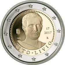 2 Ευρώ, Ιταλία,2000. επέτειος από το θάνατο του Τίτο Λίβιο, 2017 2 ευρώ  αναμνηστικά 2