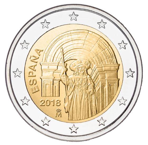2 €, Παλιά πόλη του Σαντιάγκο ντε Κομποστέλα, Ισπανία, 2018 2 ευρώ