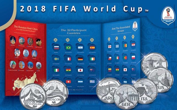 FIFA WORLD CUP TM - 32 Μετάλλια 2017 mdm