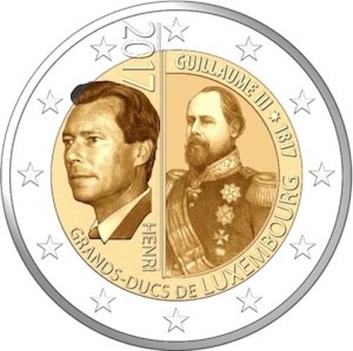 2 Ευρώ, Λουξεμβούργο, Η 200η επέτειος από τη γέννηση του Μ. Δούκα Guillaume III, 2 ευρώ  αναμνηστικά 2