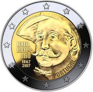 2 Ευρώ, Πορτογαλία, 150η επέτειος από τη γέννηση του Raul Brandão, 2017 2 ευρώ  αναμνηστικά 2