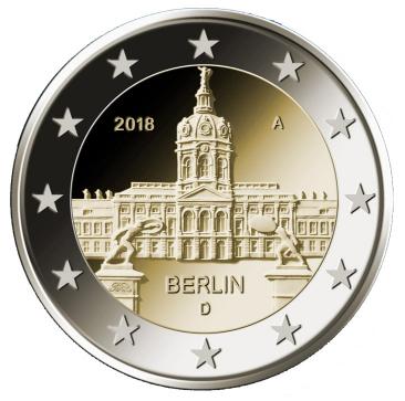 2€, Βερολίνο, Κάστρο Charlottenburg, Γερμανία, 2018 2 ευρώ