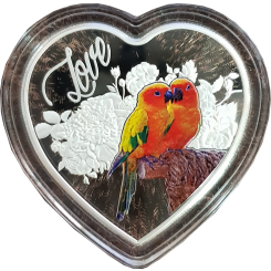 1 oz Silver coin, 999, ''Love', 2018
